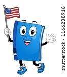 illustration of a book mascot...   Shutterstock .eps vector #1166238916