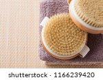 brush for dry body massage  ... | Shutterstock . vector #1166239420