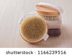 brush for dry body massage  ... | Shutterstock . vector #1166239516