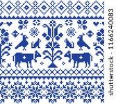 cross stitch vector seamless... | Shutterstock .eps vector #1166240083