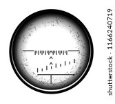 optical sight on a white... | Shutterstock . vector #1166240719