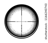 optical sight on a white... | Shutterstock . vector #1166240743