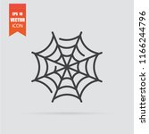 cobweb icon in flat style... | Shutterstock .eps vector #1166244796