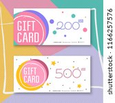 voucher template with color... | Shutterstock .eps vector #1166257576