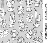 cartoon seamless pattern with... | Shutterstock .eps vector #1166260696