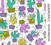 cartoon seamless pattern with... | Shutterstock .eps vector #1166260699