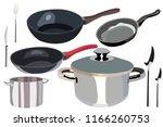 a set of kitchen utensils from... | Shutterstock .eps vector #1166260753