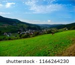 the landscape of the village... | Shutterstock . vector #1166264230