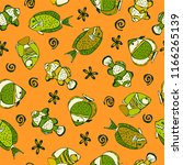 cartoon seamless pattern with... | Shutterstock .eps vector #1166265139