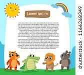 animals background vector design | Shutterstock .eps vector #1166268349