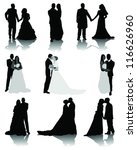 Wedding Silhouettes 2 Vector