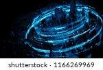 3d render abstract city... | Shutterstock . vector #1166269969