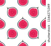 seamless pattern with halves... | Shutterstock .eps vector #1166271349
