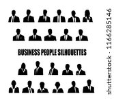 set of silhouettes of business... | Shutterstock . vector #1166285146
