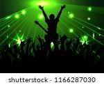 concert rock performer cheerful ... | Shutterstock . vector #1166287030