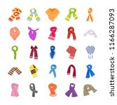 colorful scarves icons pack   | Shutterstock .eps vector #1166287093