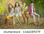 children's fashion in autumn  | Shutterstock . vector #1166289379