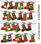 Christmas calendar with handcraft socks