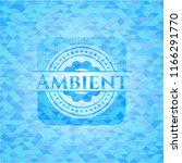 ambient light blue emblem with... | Shutterstock .eps vector #1166291770
