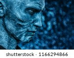 close up portrait of a zombie... | Shutterstock . vector #1166294866