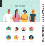 bright people portraits set  ... | Shutterstock .eps vector #1166296336