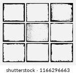 vector grunge frames.distress... | Shutterstock .eps vector #1166296663