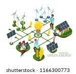 alternative energy sources ... | Shutterstock .eps vector #1166300773