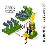 alternative energy sources ... | Shutterstock .eps vector #1166300779