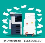 office multifunction machine.... | Shutterstock .eps vector #1166305180