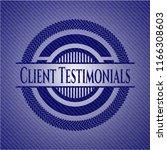 client testimonials emblem with ... | Shutterstock .eps vector #1166308603