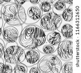 monochrome doodle seamless... | Shutterstock .eps vector #1166312650