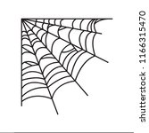 spider web illustration. spider ... | Shutterstock .eps vector #1166315470