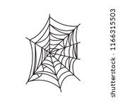 spider web illustration. spider ... | Shutterstock .eps vector #1166315503