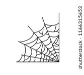 spider web icon. vector. | Shutterstock .eps vector #1166315653