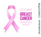 pink ribbon breast cancer... | Shutterstock .eps vector #1166315956