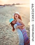 happy friends laugh at the... | Shutterstock . vector #1166316799