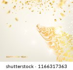 zodiac symbol with curves of... | Shutterstock .eps vector #1166317363