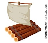 illustration of Raft - stock vector