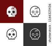 skull icons 2018 | Shutterstock .eps vector #1166325436