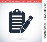 checklist icon  stock vector... | Shutterstock .eps vector #1166331940