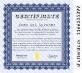 blue certificate template. good ... | Shutterstock .eps vector #1166335399