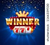 winner frame casino slots...   Shutterstock .eps vector #1166339530