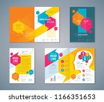 cover book design set  speech... | Shutterstock .eps vector #1166351653