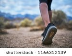 close up of hikers leg and shoe ... | Shutterstock . vector #1166352139