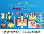 vector trendy flat gradient... | Shutterstock .eps vector #1166353006