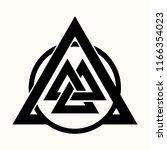 sacred geometry. black ethnic... | Shutterstock .eps vector #1166354023