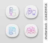 nfc technology app icons set....