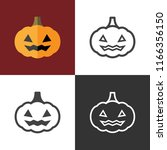 haloween pumpkin icons | Shutterstock .eps vector #1166356150