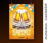 oktoberfest party poster... | Shutterstock .eps vector #1166360509