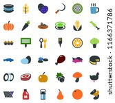 colored vector icon set   spike ... | Shutterstock .eps vector #1166371786